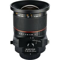 Samyang 24mm F3.5 Tilt Shift Lens For Nikon -
