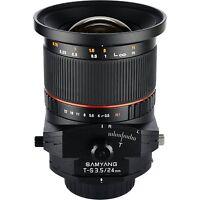 Samyang 24mm F3.5 Tilt Shift Lens For Nikon -