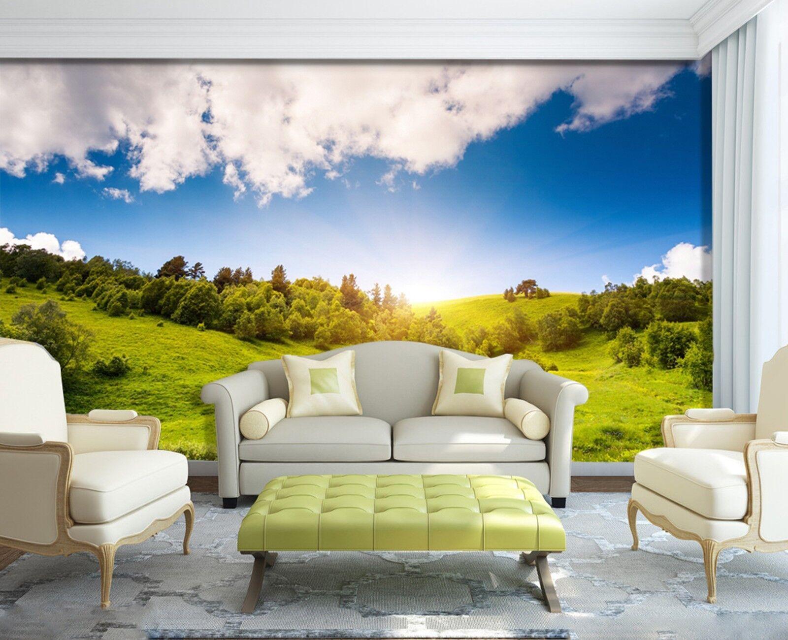3D Himmel Hügel Wälder 893 Tapete Wandgemälde Tapeten Bild Familie DE Lemon