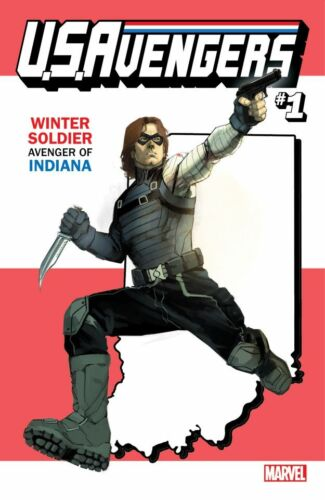 US AVENGERS 1 WINTER SOLDIER INDIANA STATE VARIANT NM