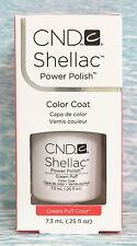 CND Shellac CREAM PUFF~UV Gel Power Polish .25 oz~white NIB