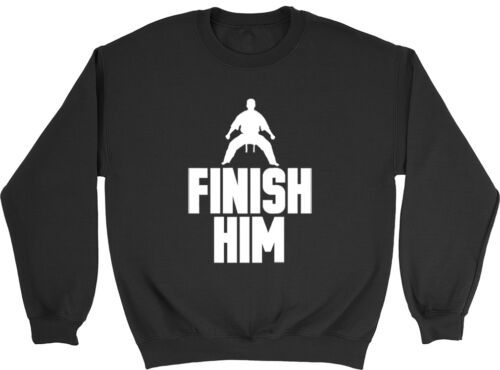 Finish Him Boys Girls Karate Martial Arts Judo Childrens Jumper Sweatshirt