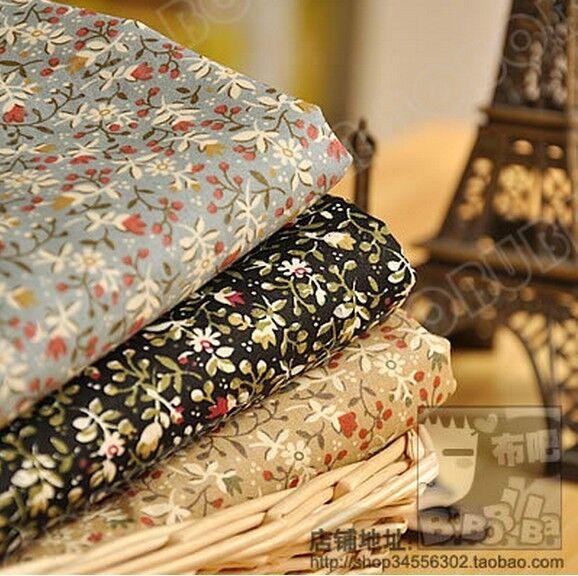 3PCS floral  45CM*50CM cotton cloth sewing fabric patchwork diy crafts material