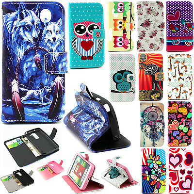 Folio Flip PU Leather Stand ID Card Wallet Magnetic Cover Case For Samsung Phone