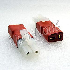 Tamiya-Stecker-auf-Deans-T-Buchse-Hochvoltstecker-Adapter-Lade-Kabel-LiPo-Akku