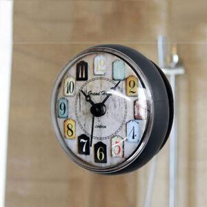 Ventouse Horloge Murale Salle De Bain Douche Silicone Horloge ...