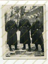 Foto, Soldaten des I.R.19, Andenken an Warschau, Polen