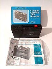 Vintage Realistic Portable Cassette Recorder Player CTR-58 w/ box - Retro