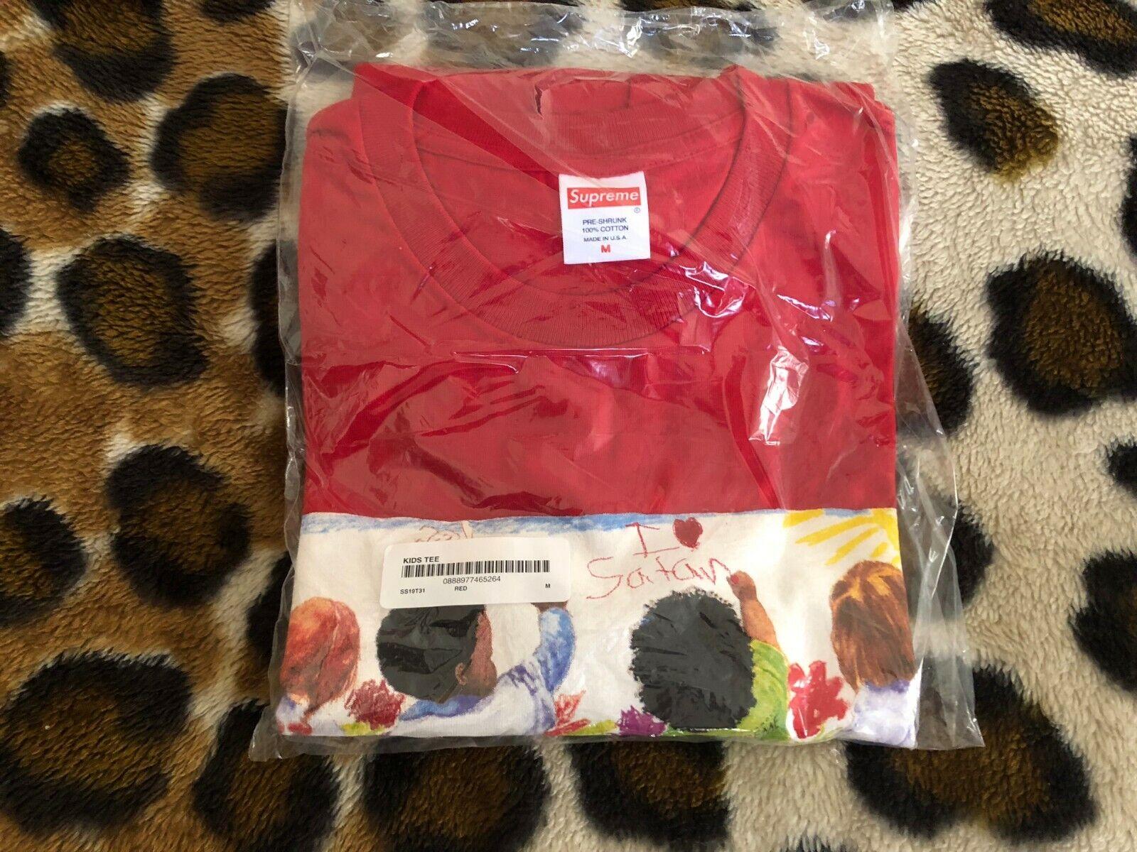 New SUPREME Kids TEE mens sz Medium red (SS19)