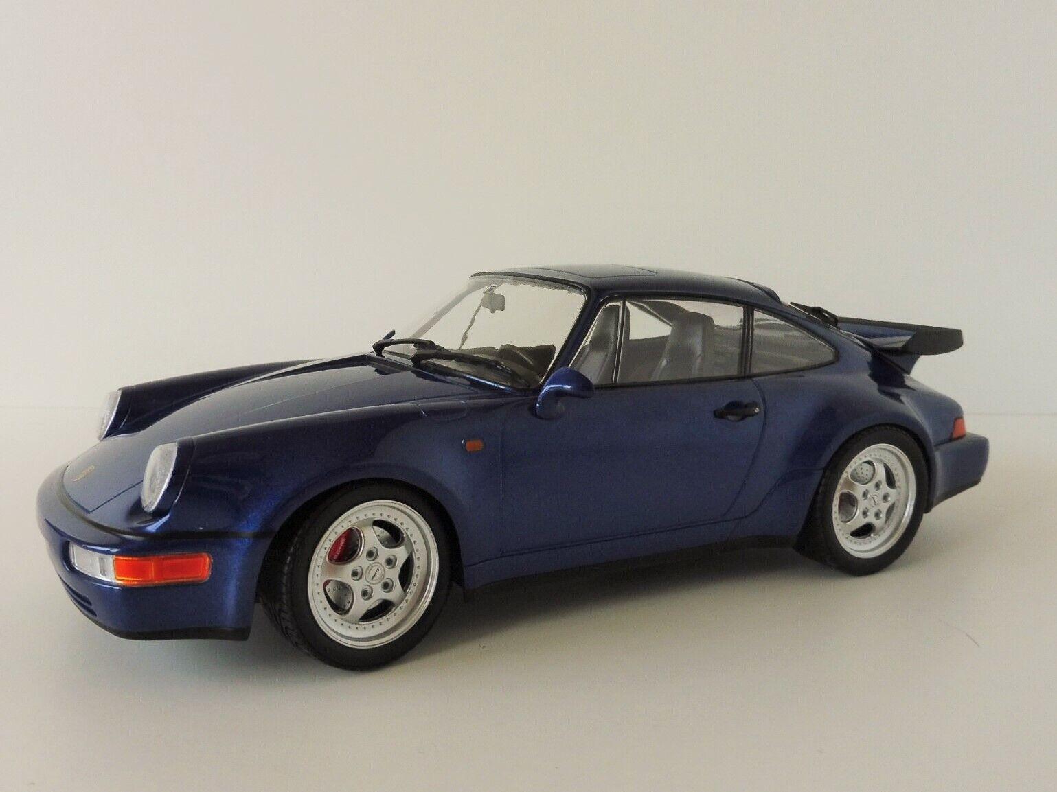 Porsche 911 turbo 1990 blumetallic 1 18 Minichamps pma 155069101 964