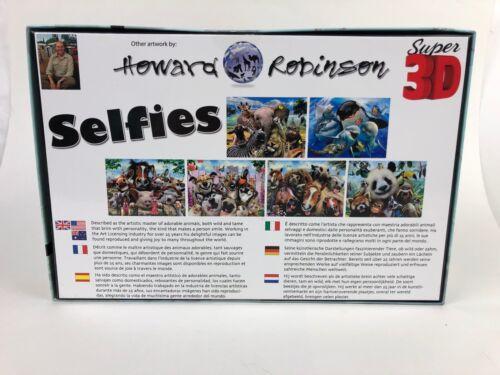 Howard Robinson Super 3D Zoo Selfie 500 Piece Puzzle New