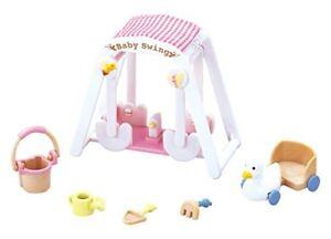Epoch-Sylvanian-Families-Sylvanian-Family-Doll-039-Baby-Swing-Set-F-208-039