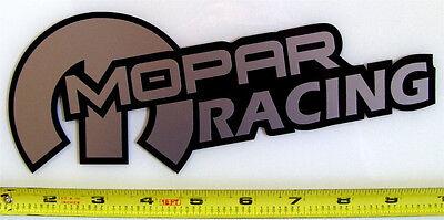 "Mopar Racing! Very Bold! Silver on Black HQ Vinyl Sticker Decal 9"" x 3.4""!"