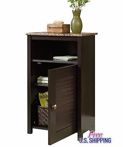 freestanding bathroom storage cabinets bathroom wooden cabinet free standing cherry shelves bath 15622