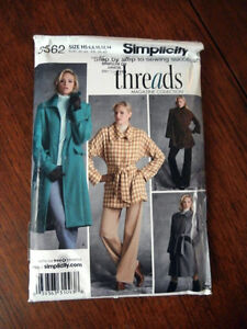 Oop-Simplicity-Threads-3562-misses-lined-trench-coats-size-6-14-NEW