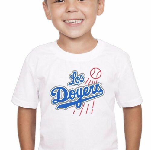 LOS DOYERS Los Angeles Dodgers White Shirt for Toddler Kid Child