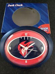 BNIB-Official-AFL-Merchandise-Melbourne-Demons-Football-Club-Oval-Desk-Clock