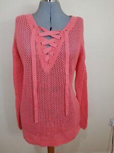 Cynthia Xl Rowley Size Bnwt Front 18 Crochet Plus Jumper Pink Lace 4UBxqar4