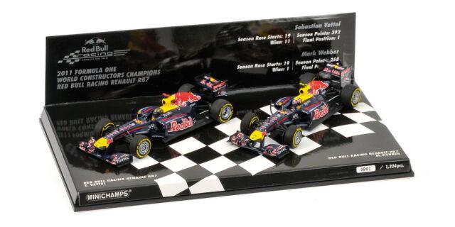 Minichamps 1/43 2011 F1 World Constructors Champions Red Bull Webber Vettel Set
