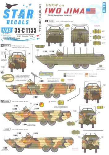 Star Decals 1//35 DUKW ON IWO JIMA DUKW Amphibious 6x6 Truck