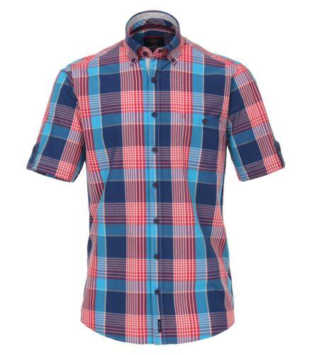 Casa Moda-Casual Fit-Uomo 1//2-arm Camicia in Blu//Rosso 982974500