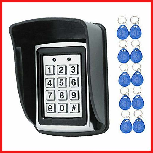 HFeng 125KHz RFID Access Control Keypad Controller Waterproof Cover Outdoor 1000