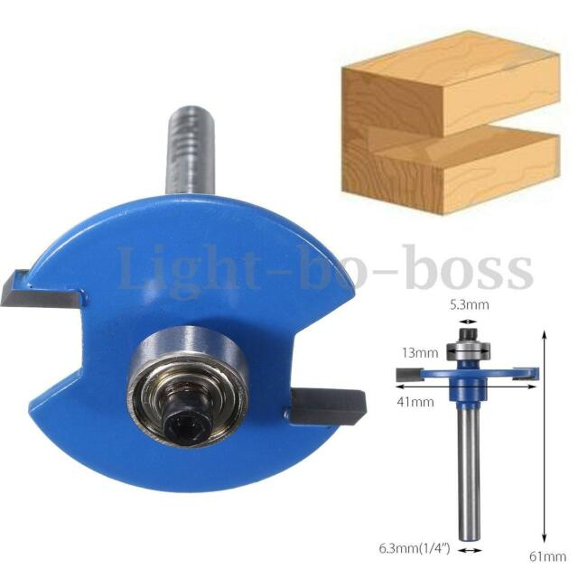 1/4'' Shank Biscuit Joiner Cutter Router Bit W/ Bearing Woodworking Cutter