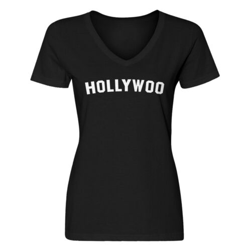 Details about  /Womens Hollywoo V-Neck T-shirt #3906