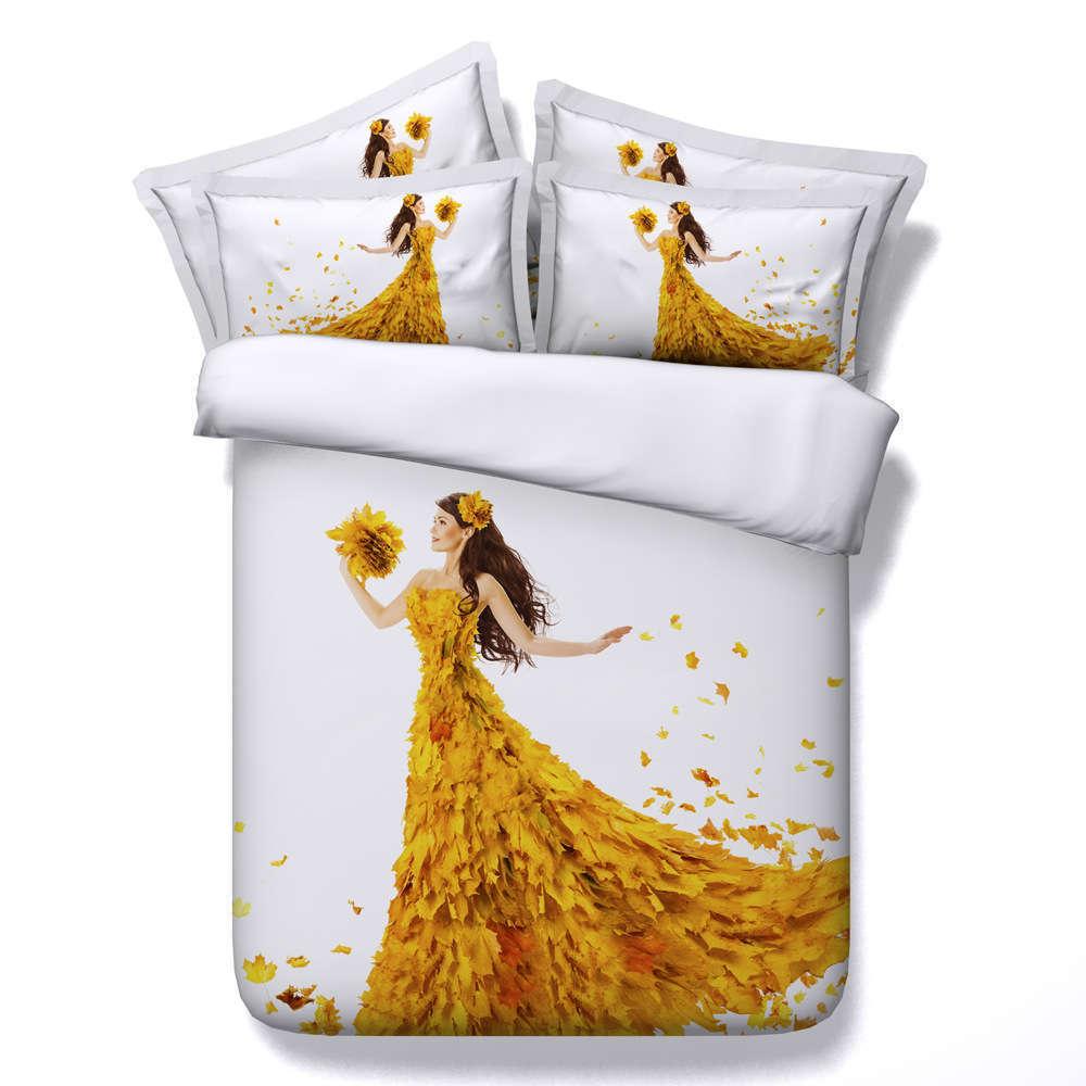 Dress Made Flowers 3D Printing Duvet Quilt Doona Covers Pillow Case Bedding Sets