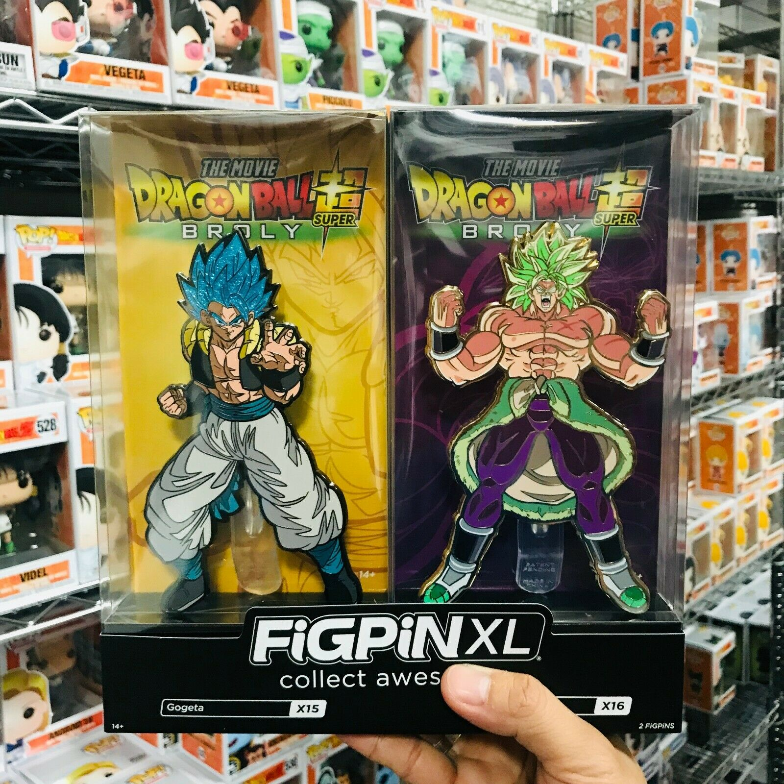 San Diego comic-con 2019 Exclusive Dragonball Super  Gogeta et Broly figpin XL avec le mélange Vegeta PIN  le plus en vogue