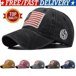 Baseball-Cap-Mens-Tactical-Army-Cotton-Military-Dad-Hat-USA-American-Flag-USA
