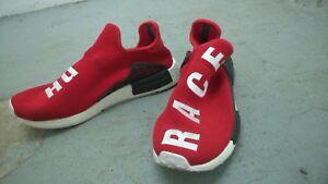 fcb60bdfaf1ef Image is loading Adidas-X-Pharrell-Williams-NMD-Hu-Race-Scarlet-