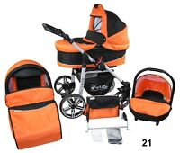 Stroller Combination 3in1 - Crib+stroller+baby Carrier Auto Wheels Steering