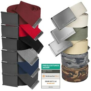Urban Classics ® Basic Canvas Belt Damen Herren Gürtel Stoffgürtel Koppel TB305