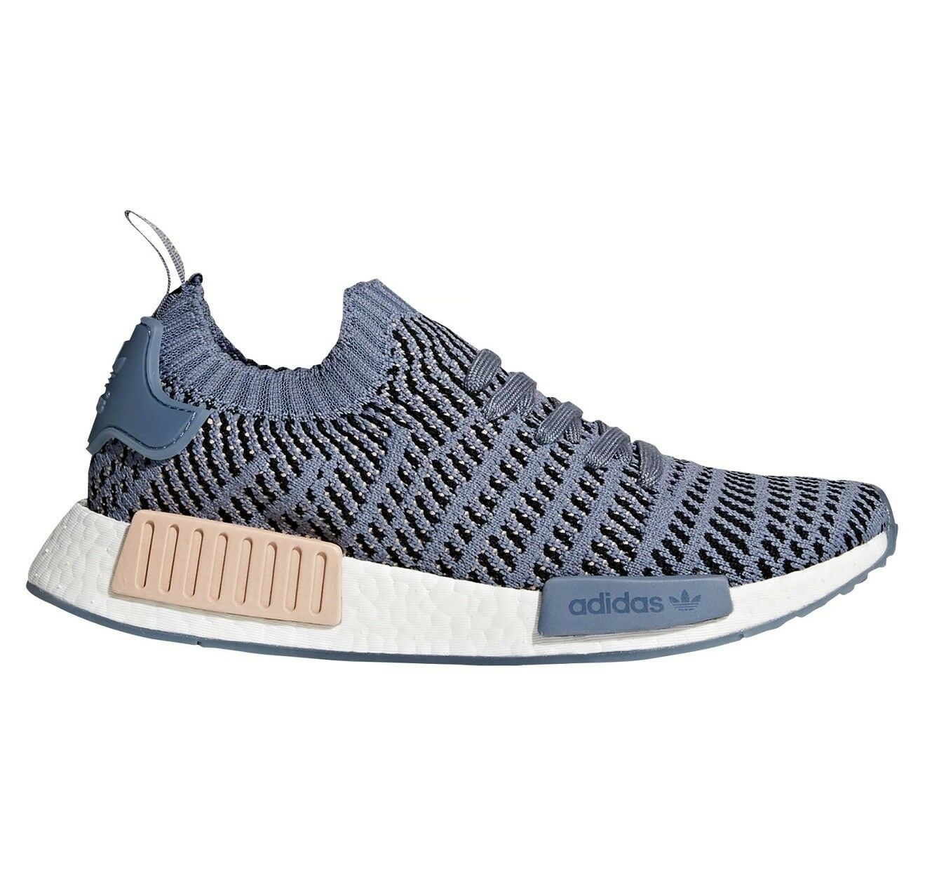 Adidas NMD R1 Stlt Primeknit Womens CQ2029 Steel Pearl Running Shoes Comfortable best-selling model of the brand