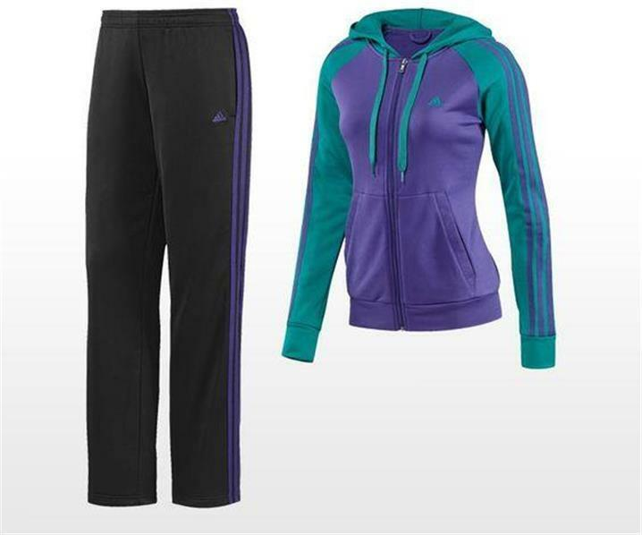 Adidas Performance  80 Climalite Young Knit Suit Women S Purple Green G81161 NEW