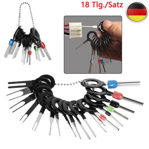 18 Tlg Entriegelungswerkzeug KFZ Kabel Stecker Auspinnen Werkzeug Lösewerkzeug