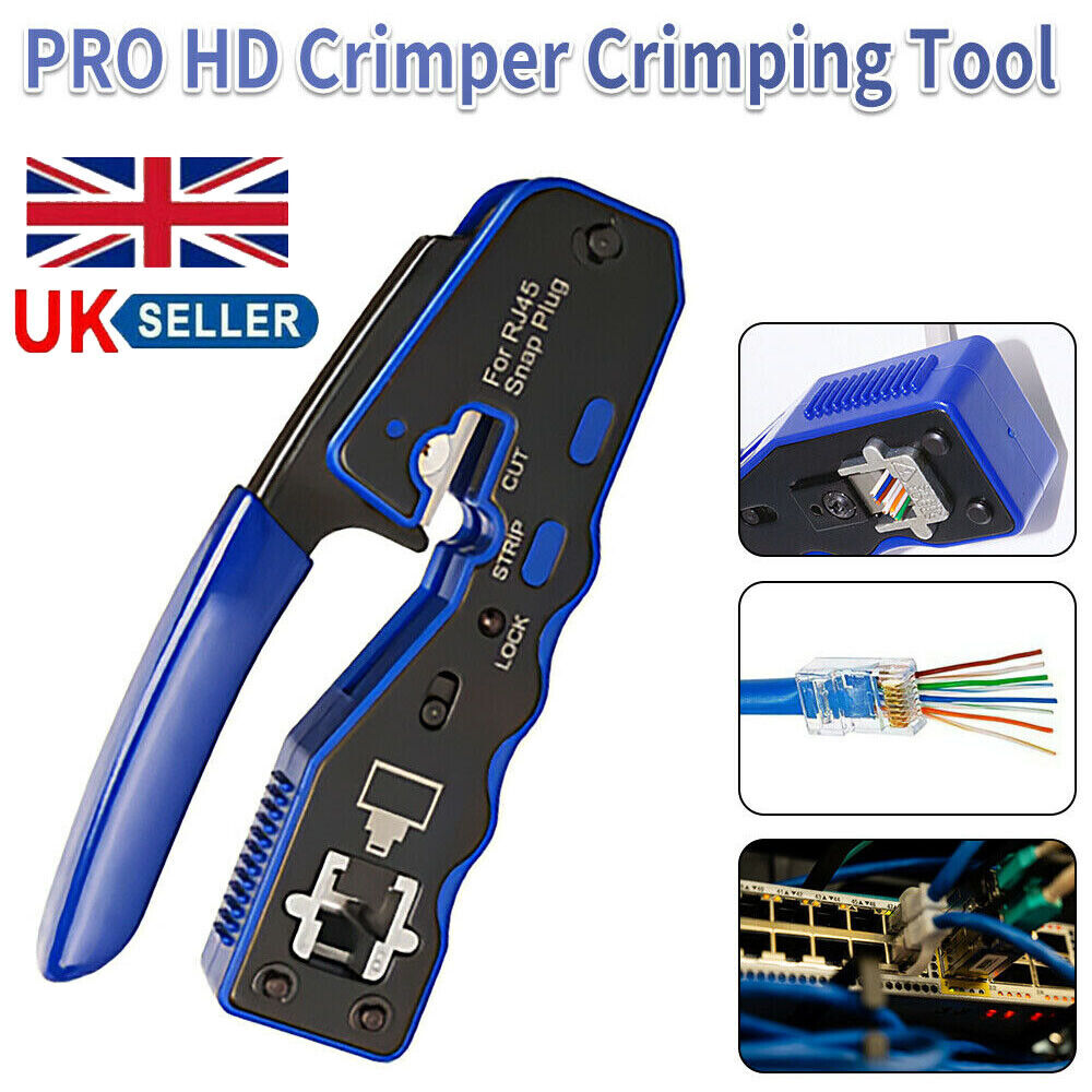 Rj45 Network Crimper Cable Stripping Plier Stripper Crimping Tool for Cat7 Cat6