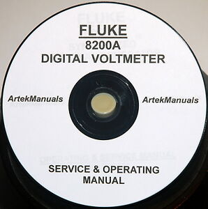 Details about FLUKE 8200A DMM Operating & Service Manual with schematics
