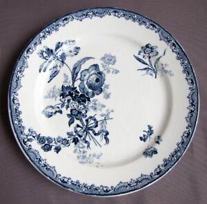 Assiette à Gâteau sur Pied service Fontanges Bleu Faïence de Sarreguemines MobEKK2C-09112034-924744154
