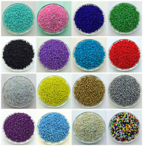 NEW-DIY-2MM-3MM-4MM-Size-Glass-With-silve-Seed-Spacer-beads-Jewelry-Fitting