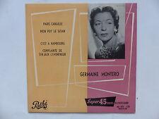 GERMAINE MONTERO Paris canaille 45 EG 133