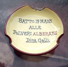 1920 CERAMICA PUBBLICITARIA FAENZA POLVERI ALBERANI BOLOGNA - PORTACENERE