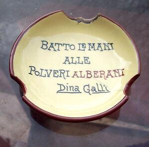 1920-CERAMICA-PUBBLICITARIA-FAENZA-POLVERI-ALBERANI-BOLOGNA-PORTACENERE