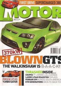 Details about Motor Feb 07 Monaro VRX 500 370 GTS Walkinshaw LS2 380  Supercharged Astra Sri Z4