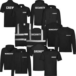 Security-T-Shirt-bedruckt-Ordner-Crew-Wunschtext-Sweatshirt-Jacke-Polo-Hoodie