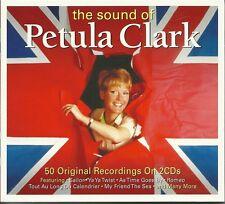 THE SOUND OF PETULA CLARK - 2 CD BOX SET - 50 ORIGINAL RECORDINGS