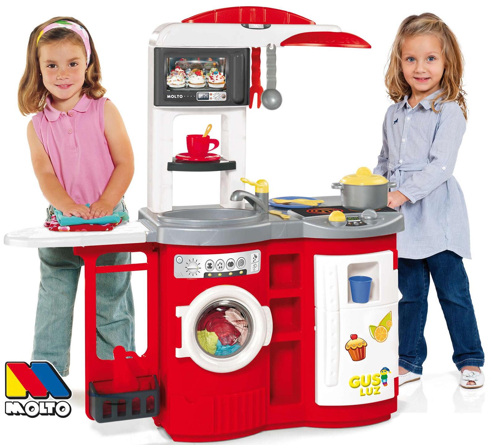 Molto Spielküche Kinderküche Cook`n Play mit 17-tlg. Zubehör