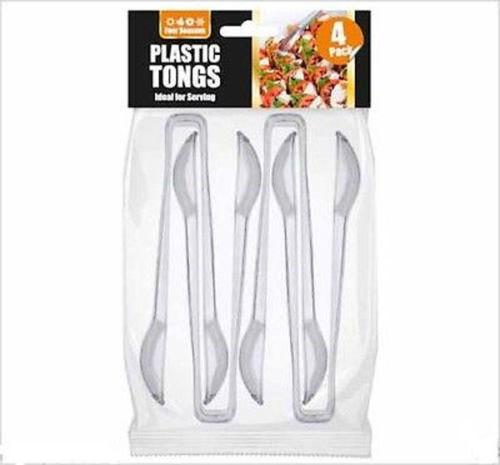 """Picnic 6/"""" 4 Plastique Transparent Qualité Alimentaire Serving Pinces-parfait pour une fête barbecue"""