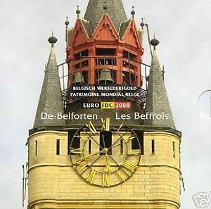 BELGIE-BU-SET-2008-NIEUW-ONTWERP-MET-GEKLEURDE-PENNING-ZEER-SCHAARS
